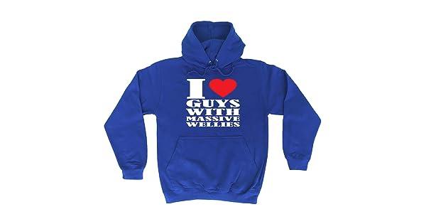 I Love Heart Guys With Massive Wellies Funny Novelty Sweatshirt Jumper Top