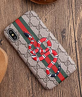 Phone Case for iPhone Xs MAX - New Elegant Luxury Designer PU Leather Fashion Embroidery Graphic Wallet Style Cover Case for Apple iPhone Xs Max(Snake