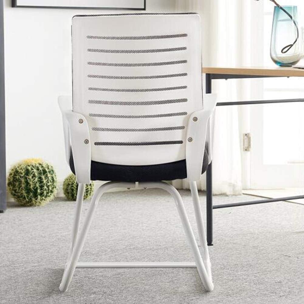 Chaise Patron Réunion Chaises Bureau, Conférence De Jeu De Soutien Lombaire Chaise Respirante Base Ergonomique En Maille Robuste Chaise d'ordinateur (Color : White) White