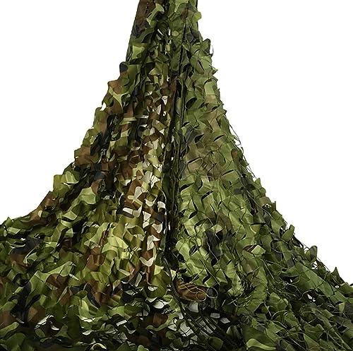 YFF-Bache Filet de Camouflage Durable De Plein air Filets de Prougeection Solaire Woodland pour Camping, Militaire, Chasse Professionnelle,Tir, Cacher,Jeux pour Enfants, Enfants, Armée Filet Camo