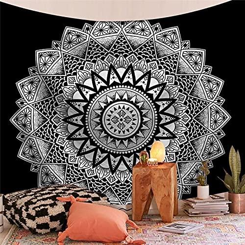 Tapiz de la serie India Mandala estética montaje en pared Tarot bruja tapiz manta bohemia tela colgante A10 130x150cm