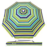 Best Beach Umbrella Rios - MOVTOTOP 6.5ft Beach Umbrella, UV 50+ Protection Beach Review