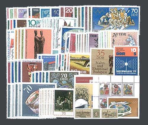 Goldhahn DDR Jahrgang 1976 postfrisch komplett Briefmarken für Sammler