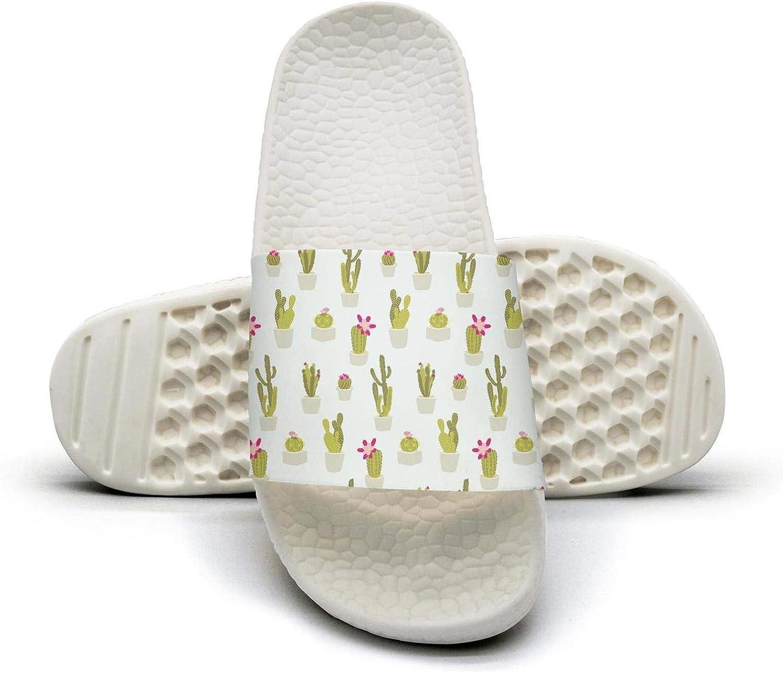 Womens Ladies Cactus Repeated Slip on Beach Sandals and Anti-Slip Shower Slipper Comfort Sandals