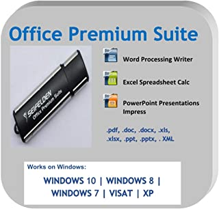 Office Suite 2019 USB Alternative to Office Home Student and Business Compatible with Word, Excel, PowerPoint for Windows 10 8 7 Vista XP by Apache OpenOffice ms Word ms Office (USB-Drive)