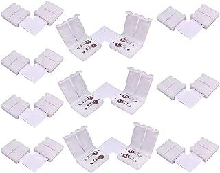 LitaElek 2 Pin Conector de Esquina Tira LED de un Solo Color SMD 5050 5630 Divisor de luz de Cinta LED Conector en Forma d...
