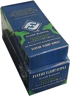 Fantasy Flight Games 500 Standard American Board Game Size Sleeves - 10 Packs + Box - Usa - Ffs03 57 X 89