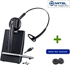 Sennheiser D10 USB Cordless Headset for USB Desk Phones and PC/MAC | Polycom VVX USB IP Phones, Avaya Vantage IP Phones - K155, K165, K175 | Mitel Phones - 6920, 6930