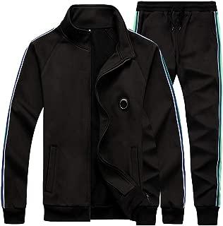 AOTORR Men's Men's Athletic Running Tracksuit Set Casual Full Zip Jogging Sweat Suit