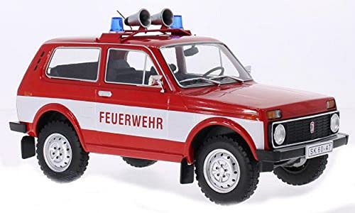 MODELvoitureGROUP MCG18006 Lada Niva Fire Brigade 1 18 MODELLINO Die CAST Model Compatible avec