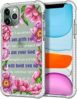 Shark Compatible Tropical Floral Inspirational Christian Quotes, Bible Verse Isaiah I am with You 41:10 for iPhone 12 Mini...