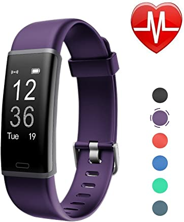 LETSCOM Fitness Tracker, Heart Rate Monitor Bluetooth Activity Tracker Watch with Sleep Monitor, Step