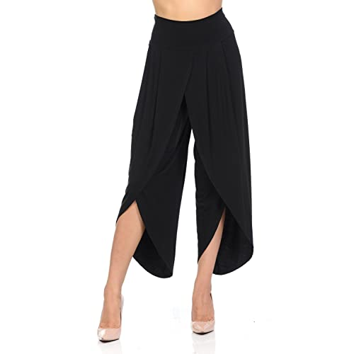097b5c9daf844 Ladybug Women s Layered Wide Leg Flowy Cropped Palazzo Pants