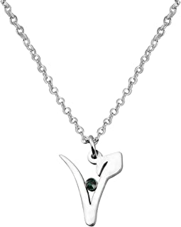 WUSUANED Stainless Steel Vegan Symbol Pendant Necklace Gift