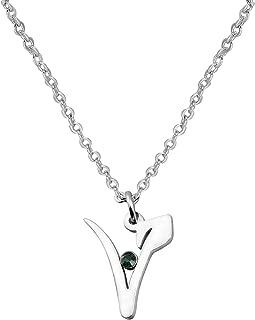 WUSUANED Stainless Steel Vegan Symbol Pendant Necklace Gift for Vegetarian