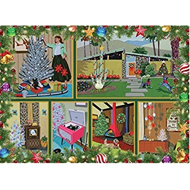 MID CENTURY CHRISTMAS 1000 Piece Jigsaw Puzzle - Give the gift of warm memories and shared fun this holiday season!