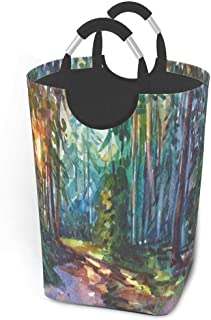 Panier à linge Summer Forest Sunray Vector Grand Panier à linge sale et pliable Grand sac de rangement en tissu Paniers de...