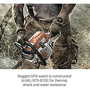 """Garmin 010-02064-00 Instinct, Rugged Outdoor Watch with GPS, Features GLONASS and Galileo, Heart Rate Monitoring and 3-axis Compass, 1.27"""", Graphite (Renewed)"""