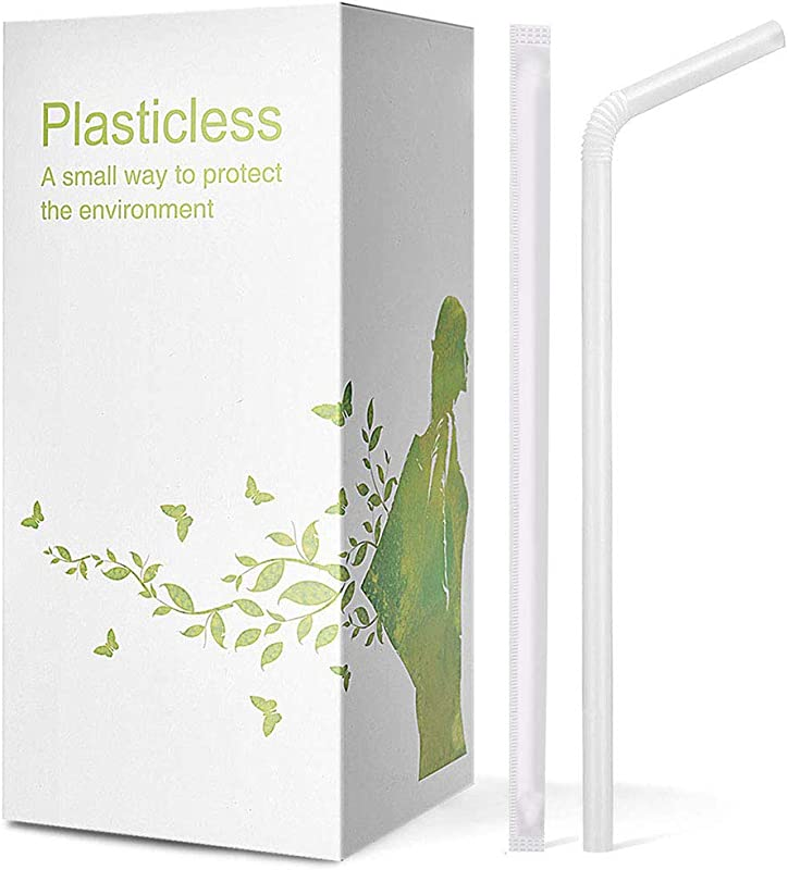 200 Pack 100 Plant Based Wrapped Compostable Straws Plasticless Biodegradable Flexible Drinking Straws A Fantastic Eco Friendly Alternative To Plastic Straws