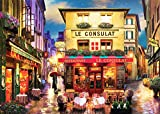 Paris Streets At Night Fathers Day Puzzles for Adults, 300 Piece Kids Jigsaw Puzzles Game Toys Gift for Children Boys and Girls, 10' x 15'