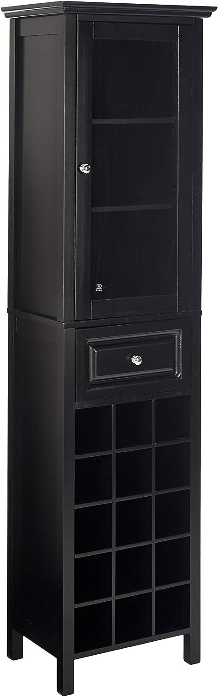 Winsome 20667 Burgundy Wine Storage, Black