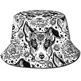 Attoo Flash Terrier Perro Unisex Bucket Hat Reversible Fisherman Hat Packable Casual Travel Beach Golf Sun Sombreros para Hombres Mujeres Negro
