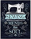 Gabby's Choice Kunstdruck Sewing Mends The Soul, 11 x 35,6