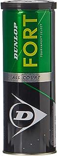 Dunlop Fort All Court Tennis Balls, Set of 3 Piece DL601315 per can
