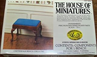 House of Miniatures Chippendale Bench Kit/Circa 1760 #40031