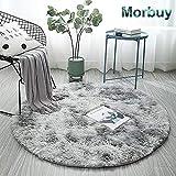 Shaggy Teppich Hochflor Runder Plüsch-Matte, Morbuy Indoor Modern Langflor Carpet Fluffy Anti-Skid...