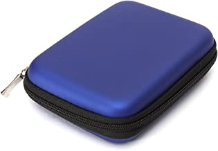 Etui Sac Housse Pochette Portable Antichoc Externe Protection pr HDD Disque Dur 2.5 EVA Nylon - Bleu