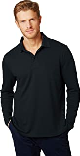 Brosloth Men's Long Sleeve Polo Shirt Classical Regular Fit Causal Shirt with Right Chest Packet Sport Shirt