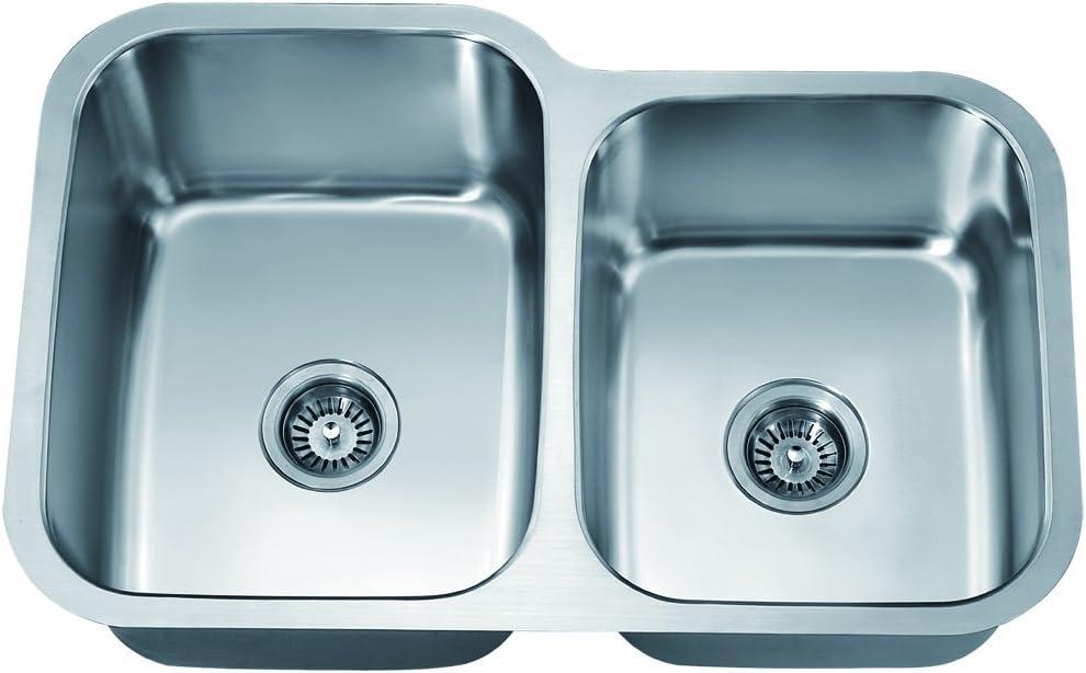 Dawn ASU108R Undermount Double Sink Satin Bowl Max 73% OFF Polished Ranking TOP8