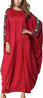cdde20c3ed6a3 SPDYCESS Femmes Abaya Elégante Florale Maxi Robes Tunique - Musulman Kaftan  Islamique Vêtements Casual Moyen-