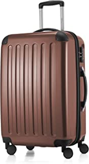 "Hauptstadtkoffer Alex Luggage Suitcase Hardside Spinner Trolley Expandable 24"" TSA, Brown, 65 Centimeters"