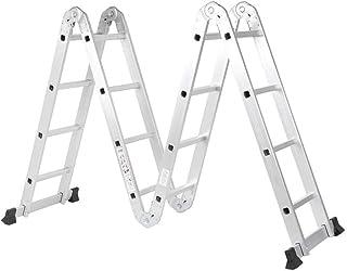 Telescoping Ladders Retractable Ladder Aluminum Alloy Adjustable Folding Multifunctional adjustable Ladders with 2 Panels ...