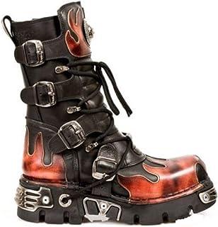 New Rock M106n s6 Cuir Noir chaussures compensées 37 EU