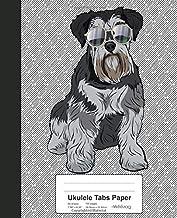 Ukulele Tabs Paper: Book Miniature Schnauzer Dog (Weezag Ukulele Tabs Paper Notebook)