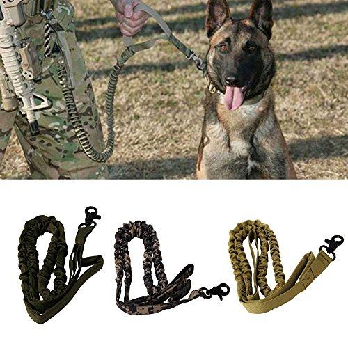 zrshygs Haustierleinen für Hunde Nylon 1000D Taktische Militärische Polizei Hundeleine Elastische Hundehalsbänder CG