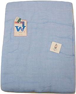 【本場今治産綿100%5重ガーゼケット/日本製/ダブル?ロングサイズ180cmx230cm】大自然恵みの中で育ちました綿をふんだんに使って織りました】【カラー:ピンク?ブルー】2色揃えました。触れただけで涼しく肌ざわりがとってもやわらかなケットです。(ご家庭のお洗濯出来ます。) (ブルー)