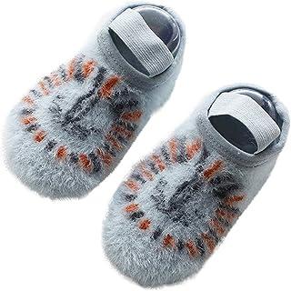 SO-buts Infantil Recién Nacido Niños Bebés Niñas Calcetines Invierno Calcetines De Hilo De Terciopelo Calzado Antideslizante Calcetines Moda Animales Dibujos Animados
