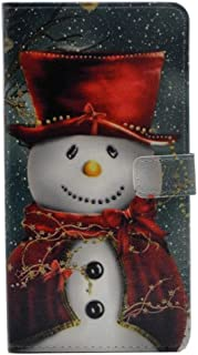 cyd_amsy Galaxy S9 Plus Case - Lovely Christmas Snowman with Red Scarf and Top Hat Pattern Leather Wallet Case Stand Cover with Cash Card Slots for Samsung Galaxy S9 Plus -Cool as Great Xmas Gift