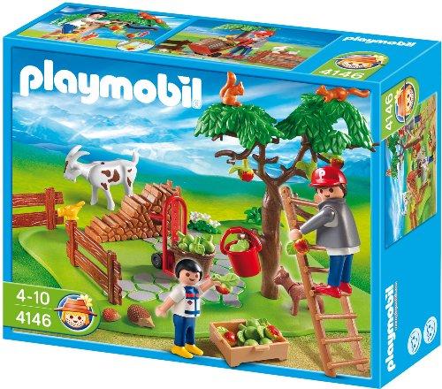 PLAYMOBIL - Set recolecta en la Granja, Figuras Incluidas (4146)