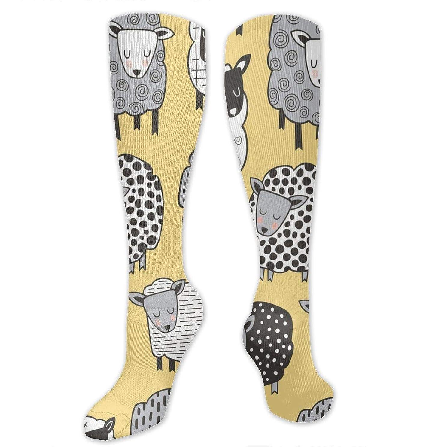 強います適合旅客靴下,ストッキング,野生のジョーカー,実際,秋の本質,冬必須,サマーウェア&RBXAA Sheep Socks Women's Winter Cotton Long Tube Socks Knee High Graduated Compression Socks