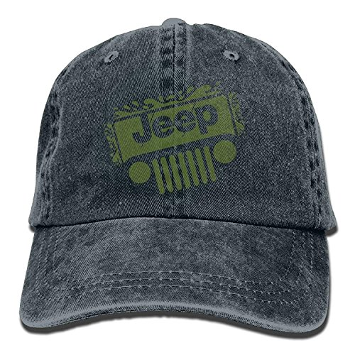 Hoswee Unisex Kappe/Baseballkappe, Jeep Denim Hat Adjustable Men's Funny Baseball Caps