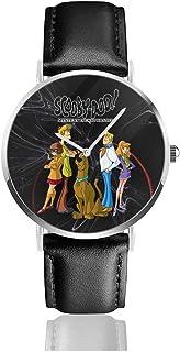 Sunlenvai Kids Scooby-Doo Mystery Gang Unisex Watches Fashion Wristwatch with Leather Strap Luxury Watch Quartz Wrist