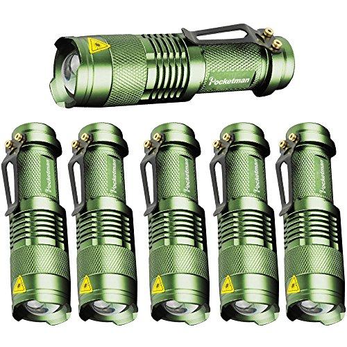 6 Pack,Pocketman 7W 300LM SK-68 3 Modes Mini Light...