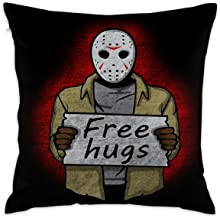 Beverly H. Griffin Pillowcase Hold Pillow Free Hugs (Jason Voorhees) Soft Living Room Pillow 17.7x17.7