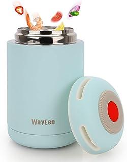 WayEee Termo Para Comida 460ml Frasco Térmico de Acero Inoxidable para Alimentos y Bebidas, Termo para Sólido y Líquido, P...