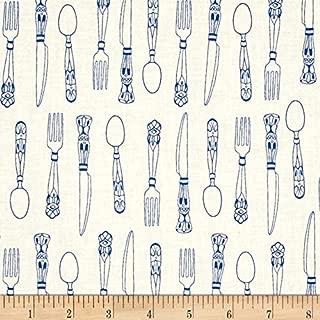 Cotton + Steel Bluebird Cutlery, Ivory